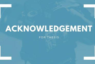 Dissertation Acknowledgement samples